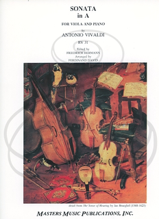 LudwigMasters Vivaldi (Hermann): Sonata in A Major, RV31 - ARRANGED (viola & piano) Masters Music