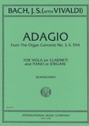 International Music Company Bach, J.S.: Adagio from Organ Concerto No. 39-after Vivaldi (viola & piano)
