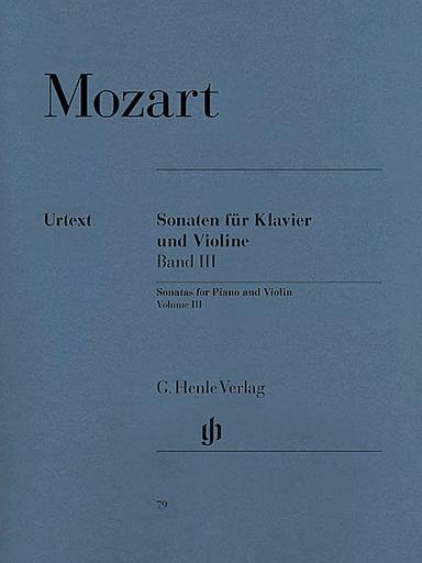 HAL LEONARD Mozart, W.A. (Seiffert, ed.): Sonatas Vol.3, urtext (violin & piano)