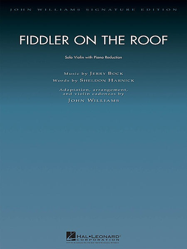HAL LEONARD Bock (Williams): Fiddler on the Roof (violin & piano)