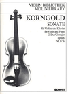 Korngold, E.W.: Sonata Op.6 (violin & piano)