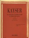 HAL LEONARD Kayser, H.E.: 36 Elementary & Progressive Studies Op. 20 (violin)