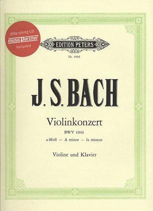 PETERS Bach, J.S.: Violin Concerto in a minor (violin & piano or CD) PETERS