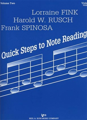 Fink, L., Rusch, H.W., & Spinosa, F.: Quick Steps to Note Reading, Vol.2 (viola)