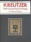 Carl Fischer Kreutzer (Auer): Violin Concerto #13 (violin & piano) OUT OF PRINT