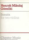 Gorecki, Henryk: Sonata (2 violins) - Special Import