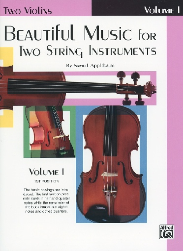 Alfred Music Applebaum, S.: Beautiful Music for Two String Instruments Book 1 (2 violins)