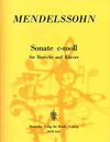 Mendelssohn, Felix: Sonate in c minor (viola & piano)