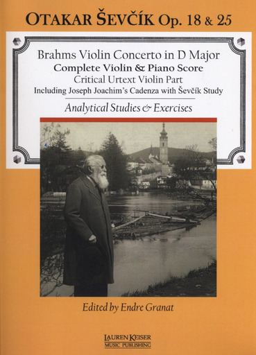 HAL LEONARD Brahms, Johannes (Granat): Violin Concerto in D Major and Sevcik Op. 18 & 25