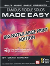 Duncan, Craig: Famous Fiddle Tunes Made Easy-Big Note Edition