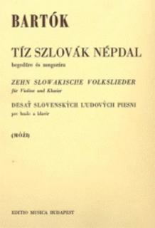 HAL LEONARD Bartok, B.: 10 Slovakian Folk Songs (violin, and piano)