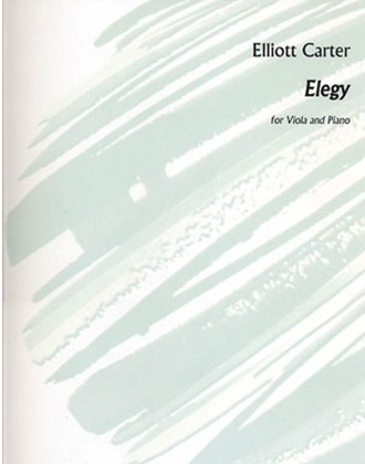 HAL LEONARD Carter, Elliott: Elegy (viola & piano)