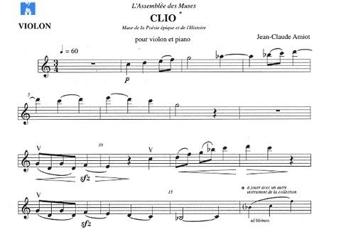 Carl Fischer Amiot, Jean-Claude: Clio (violin & piano)