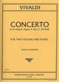 International Music Company Vivaldi : Concerto in d minor F.I.#11 (2 violins & piano) IMC
