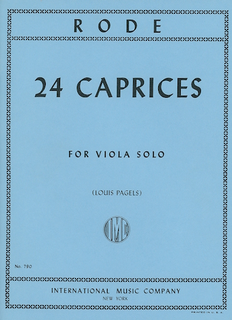 International Music Company Rode (Pagels): 24 Caprices (viola)