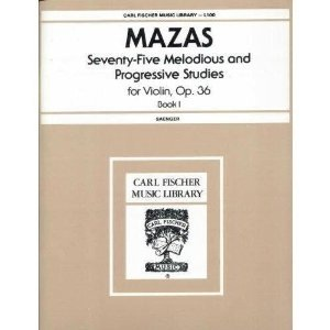 Carl Fischer Mazas (Saenger): 75 Melodious and Progressive Studies, Op.36 Bk.1 (violin) FISCHER
