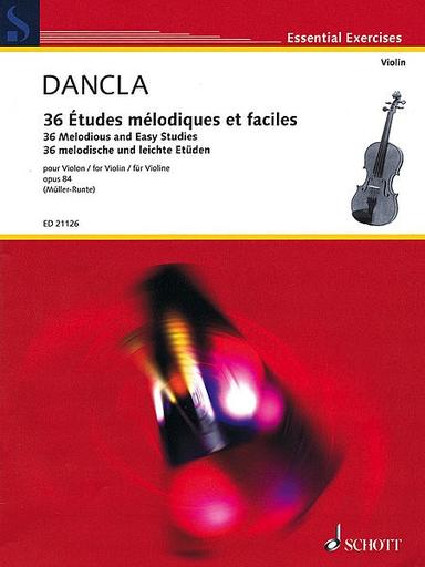 HAL LEONARD Dancla, C. (Muller-Runte): 36 Melodious and Easy Studies, Op.84 (violin)