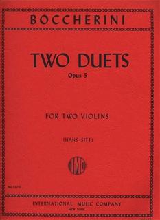 International Music Company Boccherini, L. (Sitt): Two Duets, Op.5 (two violins)