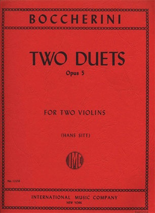 International Music Company Boccherini, L. (Sitt): Two Duets, Op.5 (two violins)
