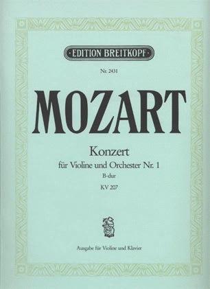 Mozart, W.A.: Concerto #1 in Bb KV 207 (Violin & Piano)
