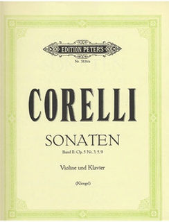 C.F. Peters Corelli, Arcangelo: Violin Sonatas Vol. 2,  Op.5, #3, 5, 9 (violin & piano)