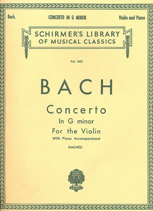 HAL LEONARD Bach, J.S. (Nachez): Concerto in g minor (violin & piano)