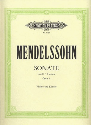 Mendelssohn, F. (Hermann): Violin Sonata in F minor, Op.4 (violin & piano)