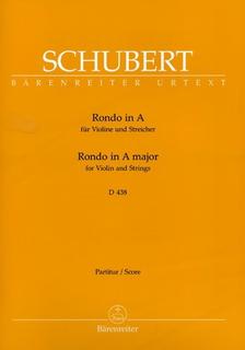 Barenreiter Schubert, Franz (Kube): Rondo in A D438 (violin & piano) Barenreiter Urtext