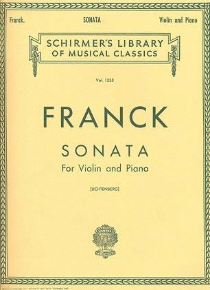 HAL LEONARD Franck, Cesar: Sonata for Violin & Piano in A, Schirmer