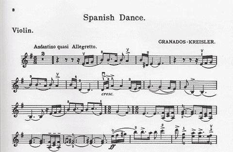 Kreisler, Fritz (Granados): Spanish Dance (violin & piano)