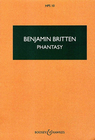 HAL LEONARD Britten, Benjamin: Phantasy Quartet, Op. 2 for oboe, violin, viola and cello (score)