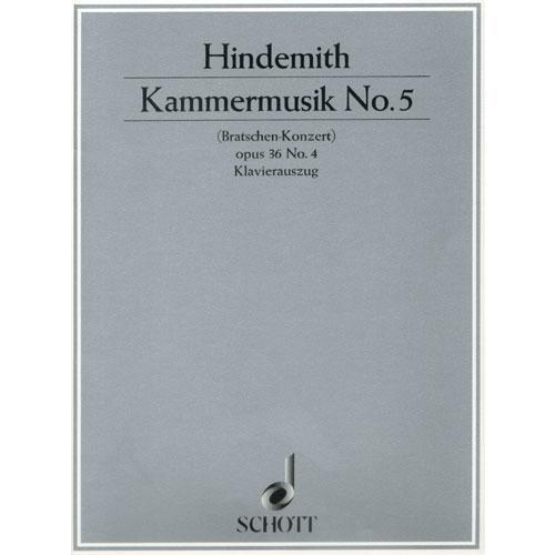Hindemith, Paul: Kammermusik Op.36 No. 4 (viola & piano)