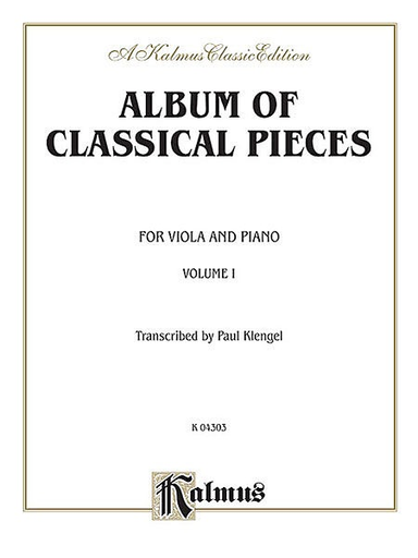 Alfred Music Klengel: Classical Pieces Vol. 1 (viola & piano)