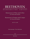 Barenreiter Beethoven, L. van: Romances in F, Op. 50 & G major, Op. 40 (violin & piano) Barenreiter Urtext