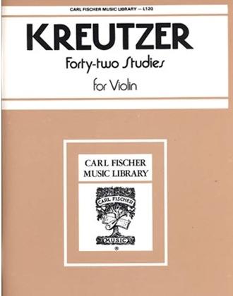 Carl Fischer Kreutzer, R. (Singer): 42 Studies (violin) Carl Fischer
