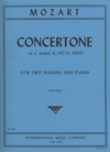 International Music Company Mozart, W.A.: Concertone in C major K190 (2 violins & piano)