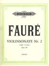 Faure, Gabriel: Sonata No.2 in E minor Op.108 (violin & piano)