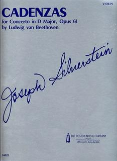 HAL LEONARD Beethoven/Joseph Silverstein: Cadenza to Violin Concerto Op.61 (violin)