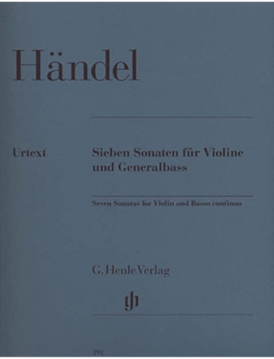 HAL LEONARD Handel, G.F. (Sadie, ed.): 7 Sonatas urtext, (violin & piano)
