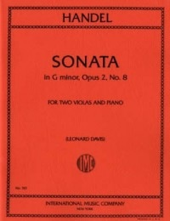 International Music Company Handel, G.F.: Sonata in G minor Op.2 #8 (2 violas & piano)