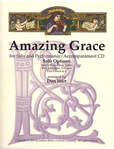 LudwigMasters Hart, Don (arr.) Amazing Grace (violin & CD)