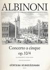 Albinoni, T.: Concerto Op10/4 in g (violin & piano)