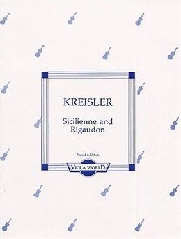 Kreisler, Fritz (Arnold): Sicilienne & Rigaudon (viola & piano)