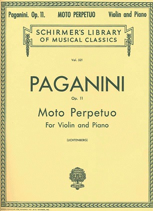 HAL LEONARD Paganini, Niccolo: Moto Perpetuo Op.11 (violin & piano)