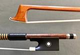 J.P. GABRIEL violin bow, nickel mounted ebony frog, GERMANY