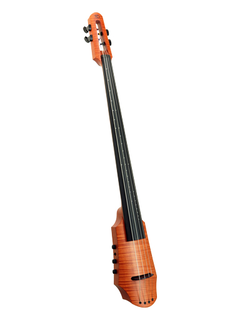 NS Design NS Design CR4 electric 4-string amber cello with soft case and tripod stand.  Czech Republic
