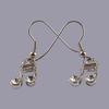 Lauren-Spencer Genuine Crystal, Silver-Colored 16th Note Earrings