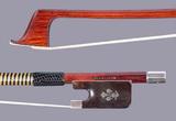 English W.E. HILL & SON cello bow, tortoise/silver, fleur de lys, by Arthur Bultitude, ENGLAND