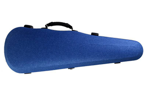 Winter Jakob Winter shaped blue felt 4/4 violin case, GERMANY