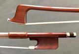 Brazilian C. SANTOS viola bow, silver/rosewood frog
